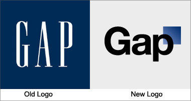 Gap logo old and new