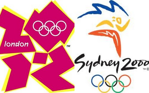 London and Sydney Olympic logos