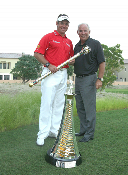 Bob Knott with Lee Westwood