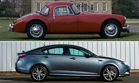 MG Cars old and new