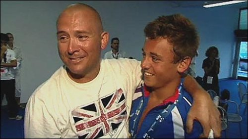 Tom Daley and his Dad