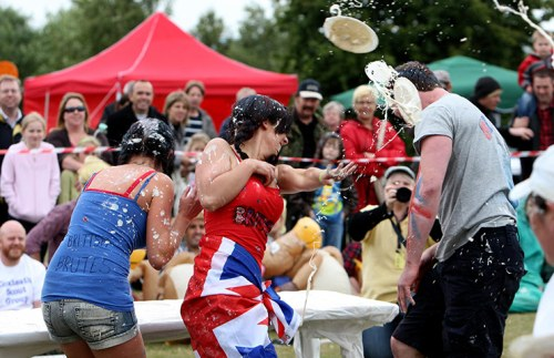 Custard pie contest