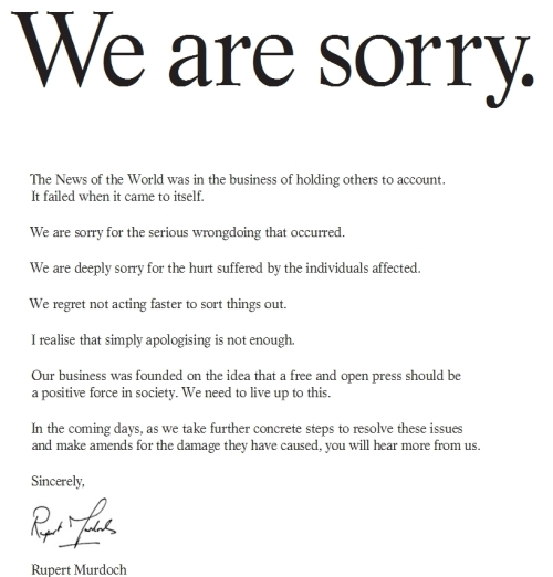 We are sorry ad