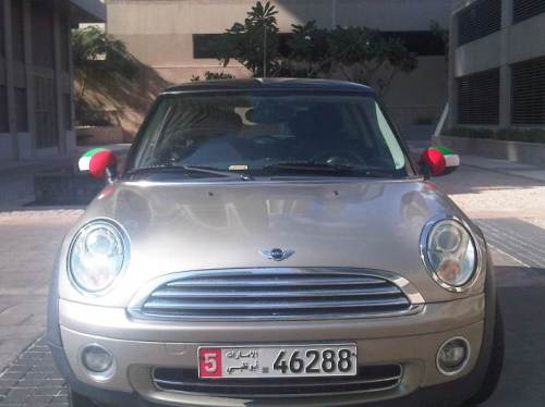 Mini with wing mirror covers