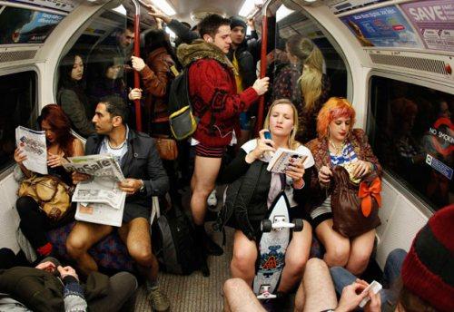 No pants on the tube London