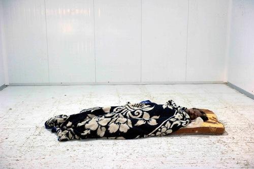 Body of Muammar gaddafi